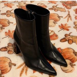 Zara leather boots size 38 - 71/2